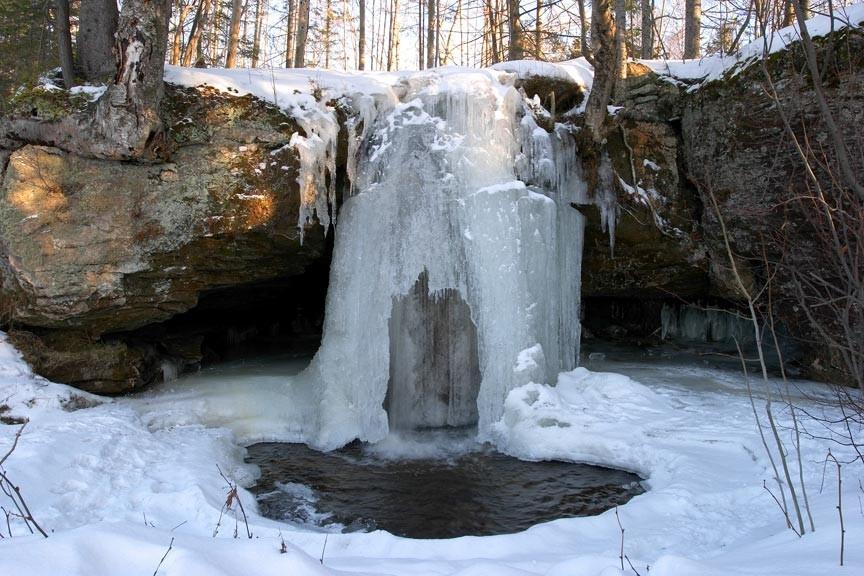 Asheville's Winter Waterfall Wonderland