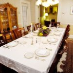 dining room with place settings