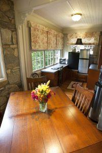 guest kitchen and table