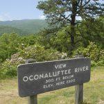 Oconaluftee River Overlook on the Blue Ridge Parkway