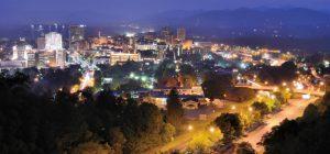 asheville north carolina at night