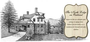 north lodge black and white drawing