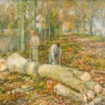 Frederick Childe Hassam - The Old Elm - Gift of Mrs. Charles M. Butler to the Asheville Art Museum Permanent Collection. 1991.14.1.21.