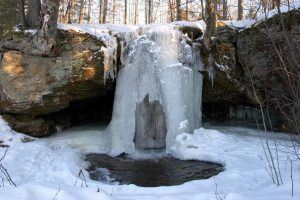 Asheville's Winter Waterfall Wonderland